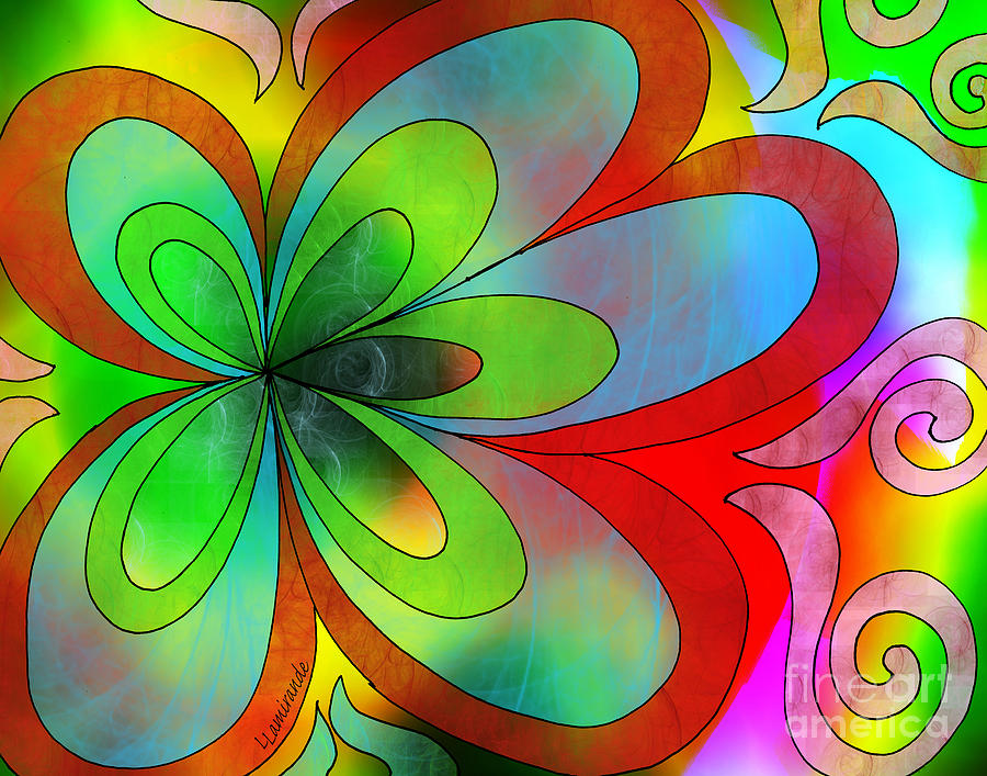 Peace Digital Art - Joyful Peace - Paix Joyeuse by Louise Lamirande