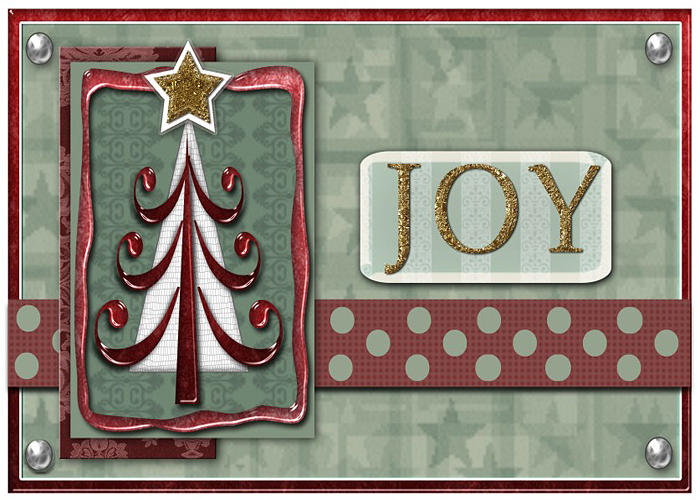 Christmas Digital Art - Joyful Tree Card by Arline Wagner
