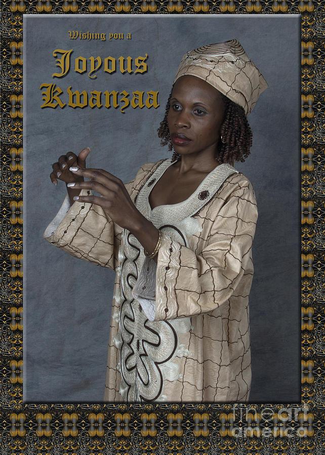 Black Woman Photograph - Joyous Kwanzaa  Photo Greeting Card by Andrew Govan Dantzler