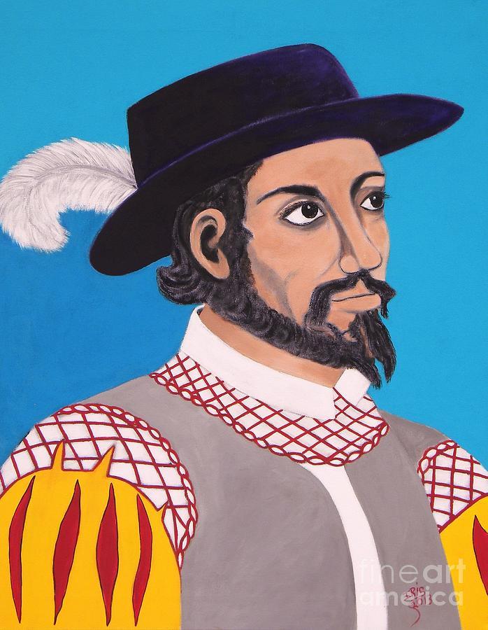 Portrait Painting - Juan Ponce De Leon by Iris  Mora