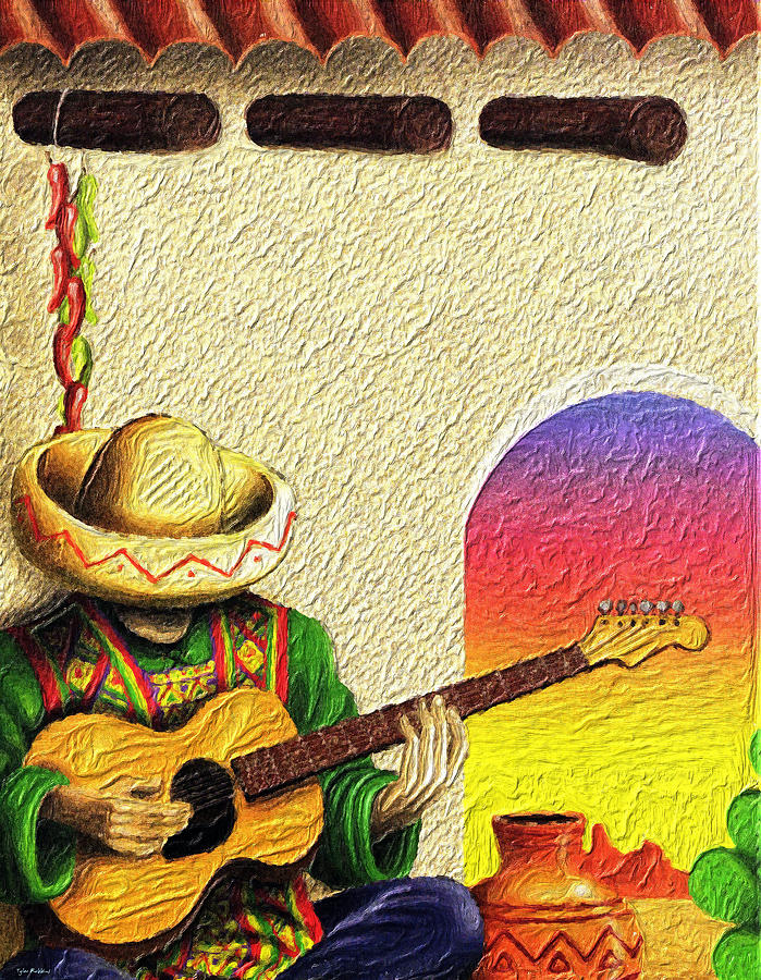 Mexico Painting - Juans Song by Tyler Robbins