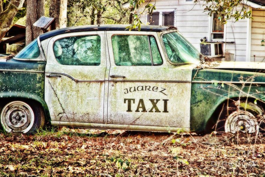 Taxi Photograph - Juarez Taxi by Scott Pellegrin