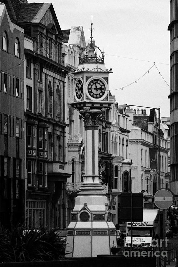 Europe Photograph - Jubilee Clock For Queen Victorias Golden Jubilee Douglas Isle Of Man by Joe Fox