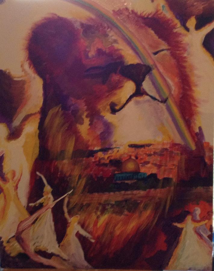 Lion Of Judah Painting - Judah Smiles by Tehya May