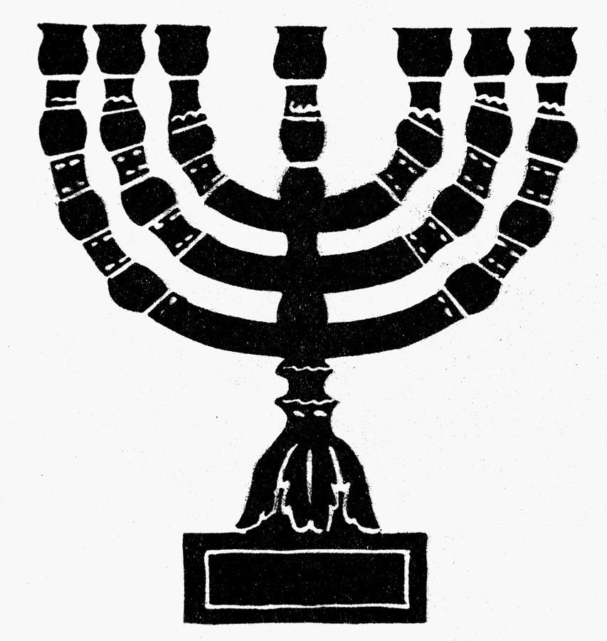 Candelabra Painting - Judaism Candelabra by Granger