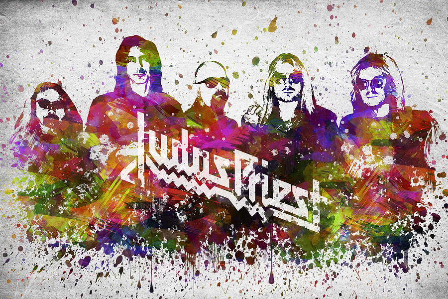Judas Priest In Color Digital Art