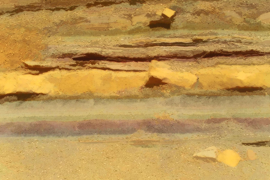 Photopaint Photograph - Judean Desert Cross Section by Joseph Hedaya