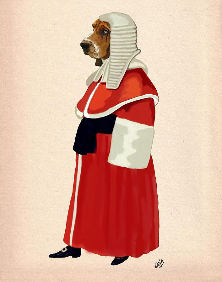 Judge Dog Framed Prints Digital Art - Judge Dog Full by Kelly McLaughlan