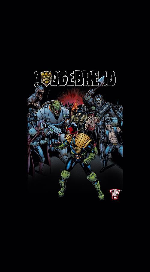 Judge Dredd Digital Art - Judge Dredd - Behind You by Brand A