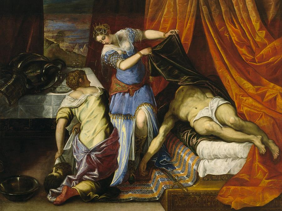 Cinquecento Painting - Judith And Holofernes by Tintoretto