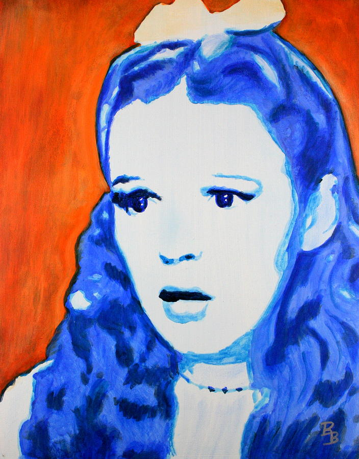 Judy Garland Painting - Judy Garland Dorothy Wizard of Oz by Bob Baker