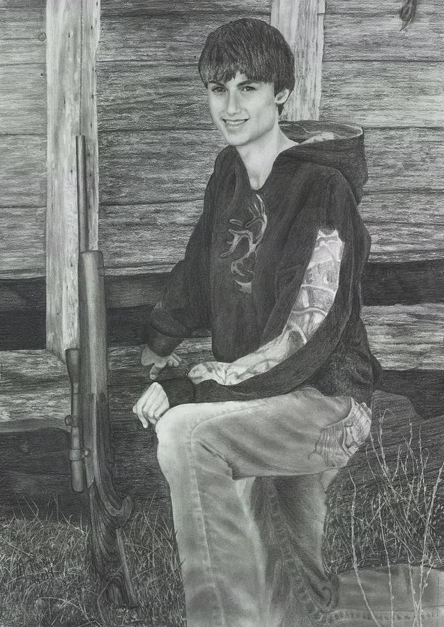 Boy Drawing - Judys Grandson by Marlene Piccolin