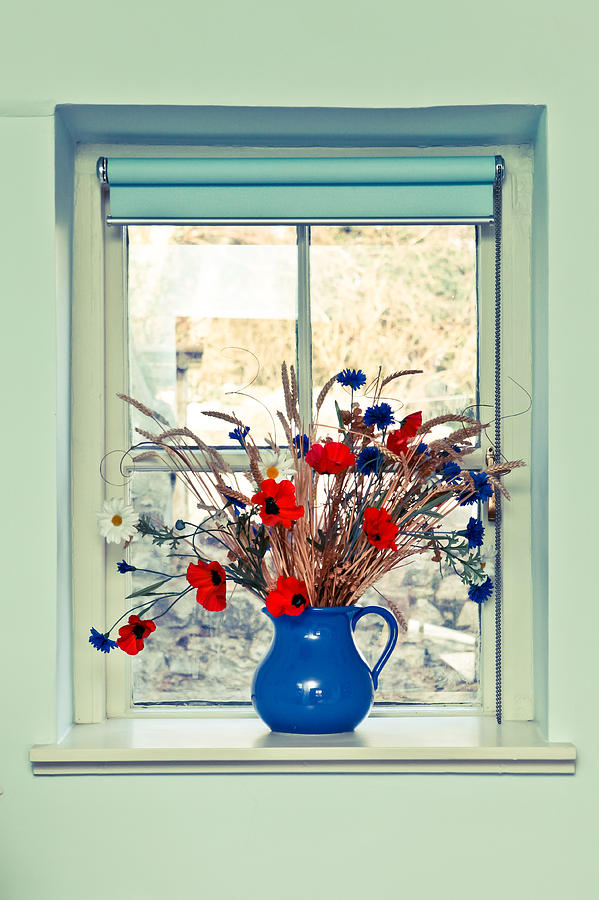 Beauty Photograph - Jug Of Flowers by Tom Gowanlock