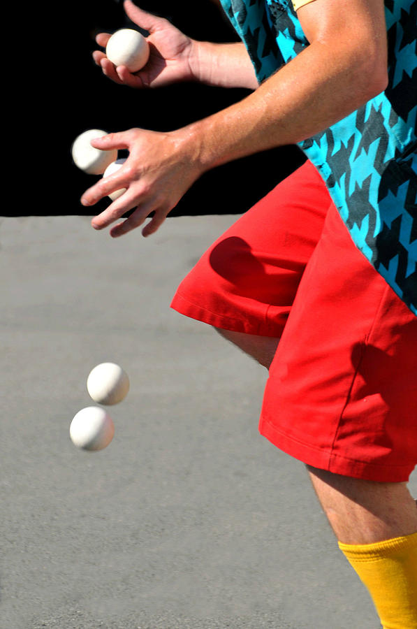 Male Hands Juggling Photograph - Juggler by Diana Angstadt