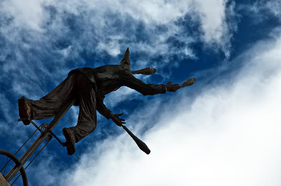 Blue Photograph - Juggling Statue by Jess Kraft