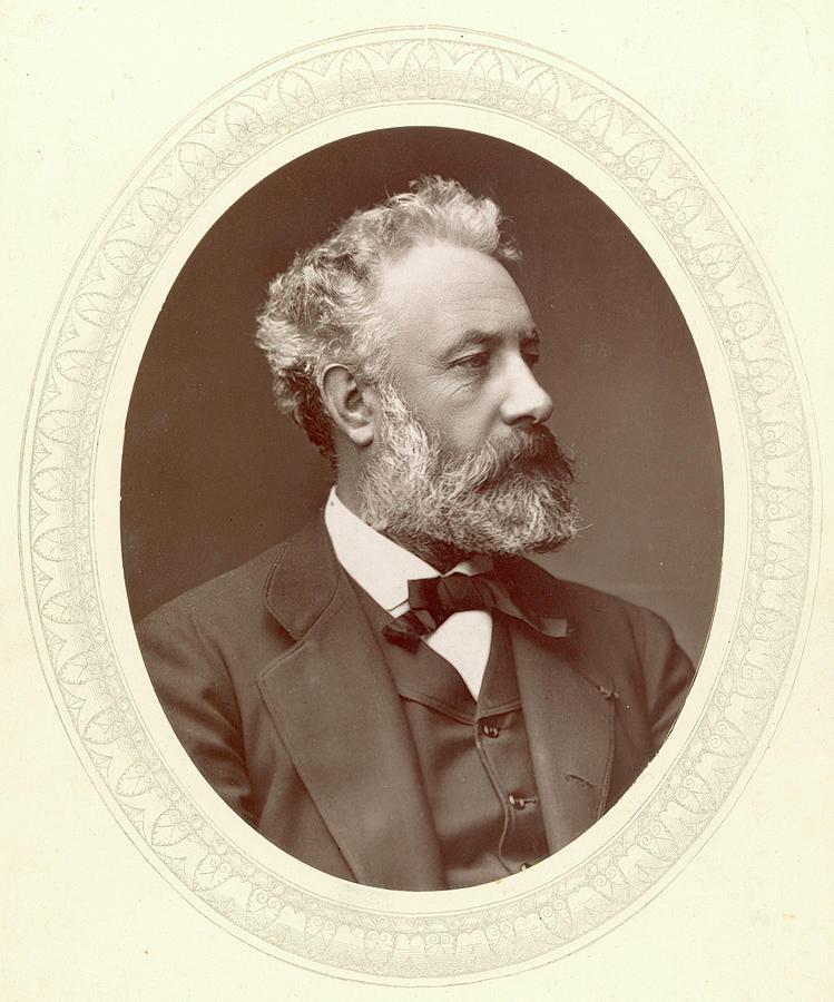 1877 Photograph - Jules Verne (1828-1905) by Granger