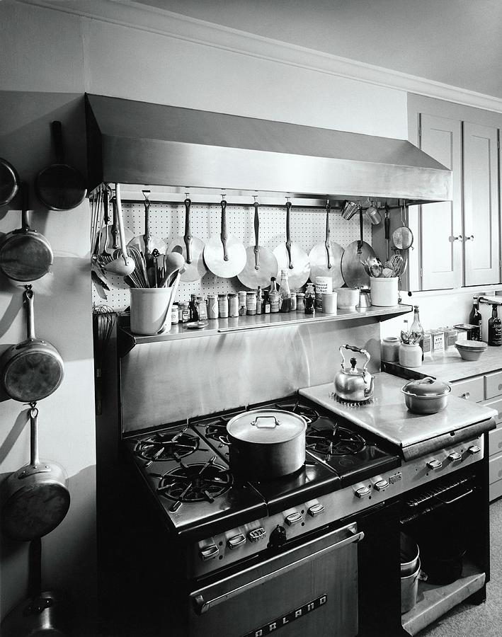 Julia Childs Kitchen In Her House In Cambridge Photograph by Pedro E. Guerrero