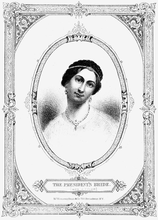 1844 Painting - Julia Tyler (1820-1869) by Granger