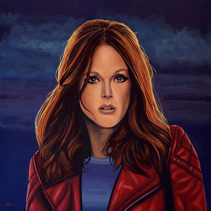 Julianne Moore Painting - Julianne Moore by Paul Meijering