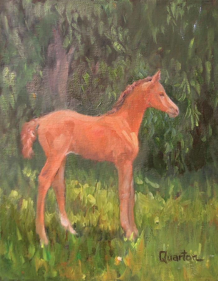 Horse Painting - Julias Treasure by Lori Quarton