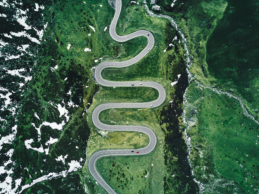 Julier Pass Road In Switzerland In Autumn Photograph by Franckreporter