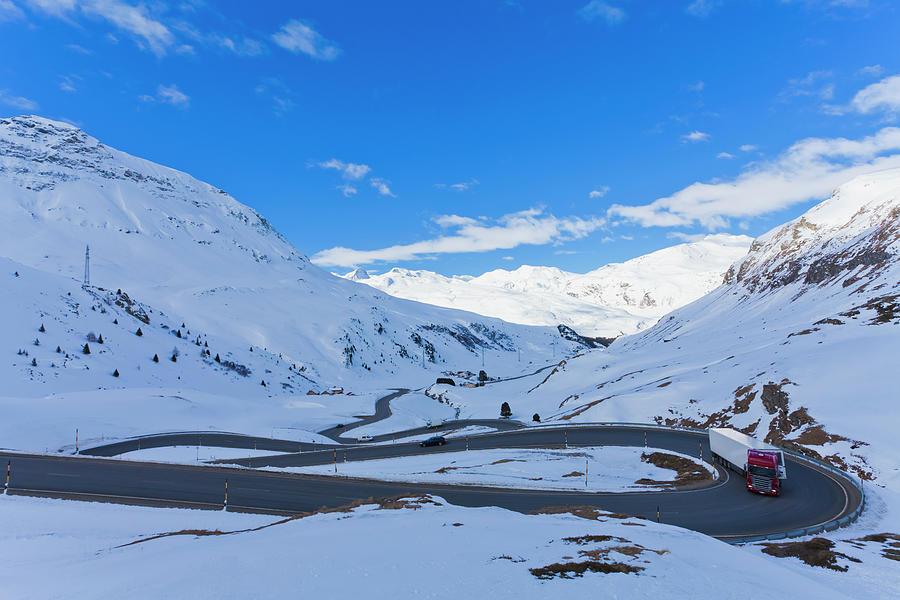 Julierpass In Winter, Grisons Photograph by Werner Dieterich