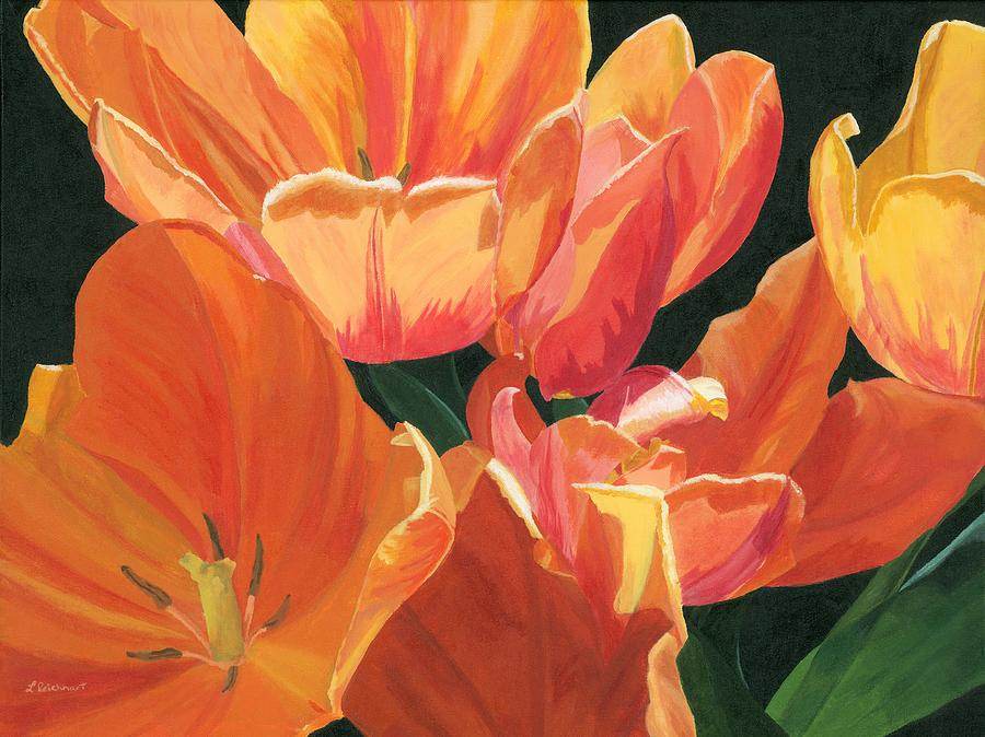 Tulips Painting - Julies Tulips by Lynne Reichhart