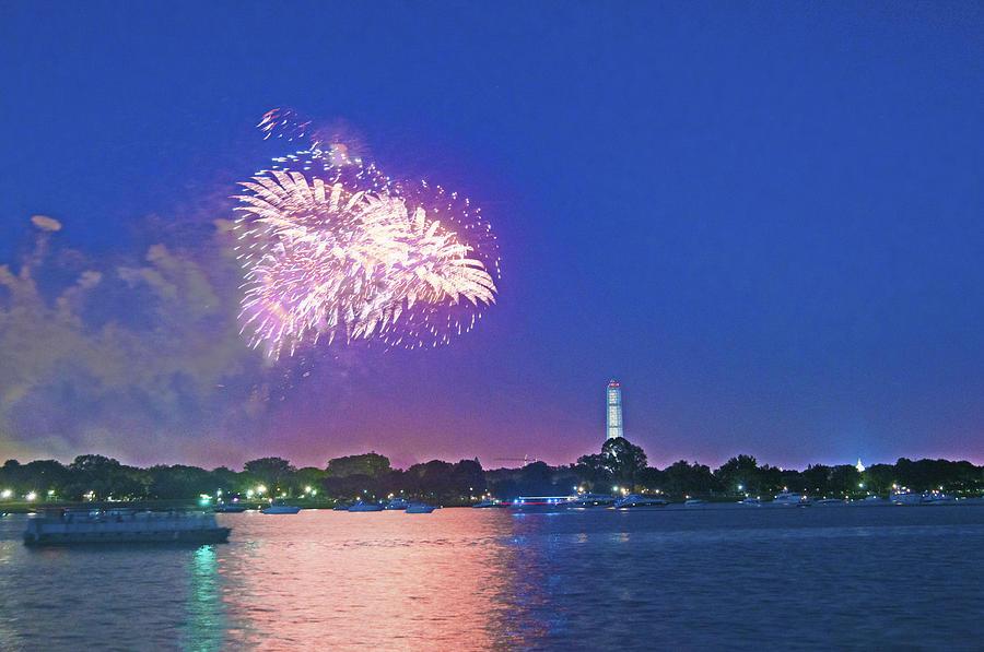Washington Dc Photograph - July 4th Fireworks Along The Potomac by Steven Barrows