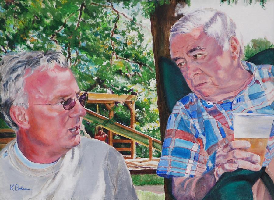 Portrait Painting - July 4th Picnic   by Kay Bohren