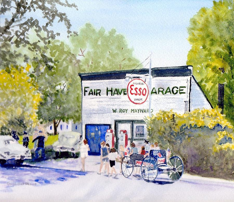 4th July Painting - July Fair Haven Ny by Carol Burghart
