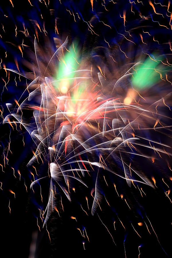 Fireworks Photograph - July Fireworks by David Dufresne