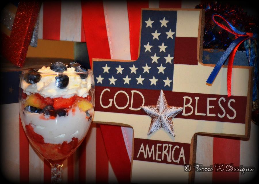 Red Photograph - July Fourth Dessert by Terri K Designs