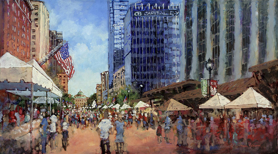 Raleigh Painting - July Fourth In The Capital by Dan Nelson