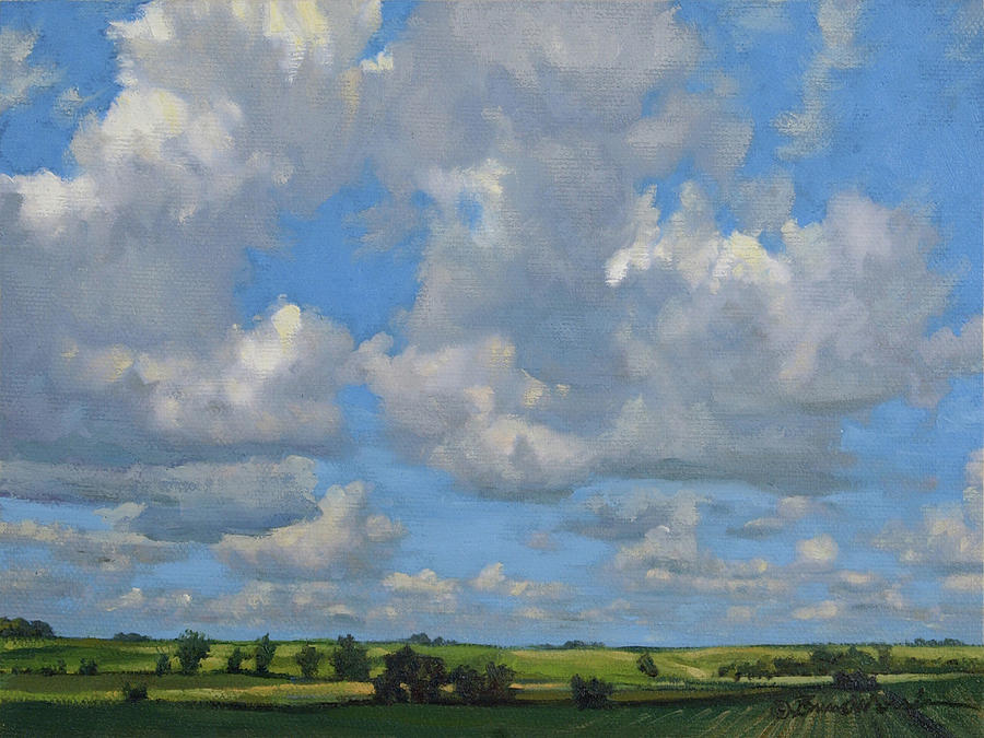 Summer Landscape Painting - July In The Valley by Bruce Morrison