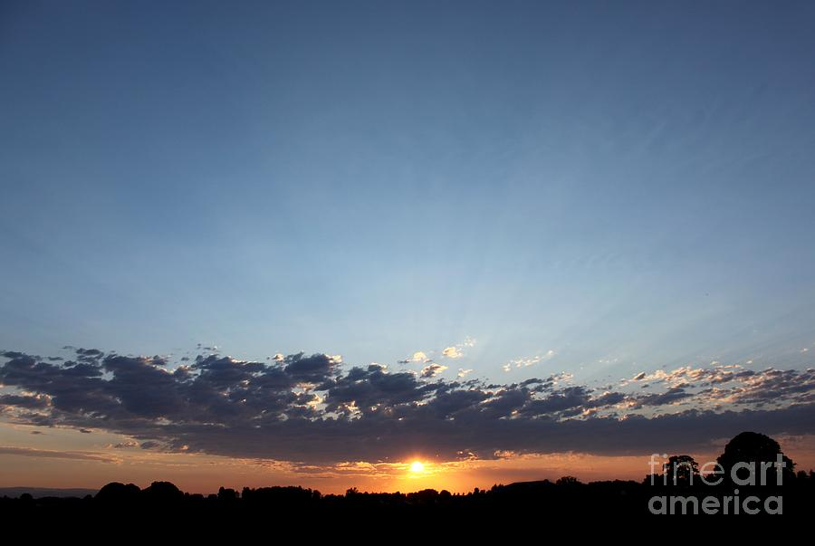 Sun Photograph - July Sunset by Erica Hanel