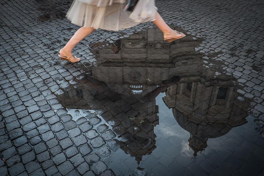Rome Photograph - Jump by Antonio Convista