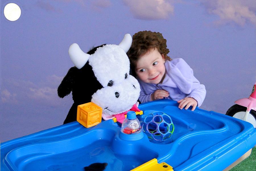 Toddler Photograph - Jump Encouragement by Nick David