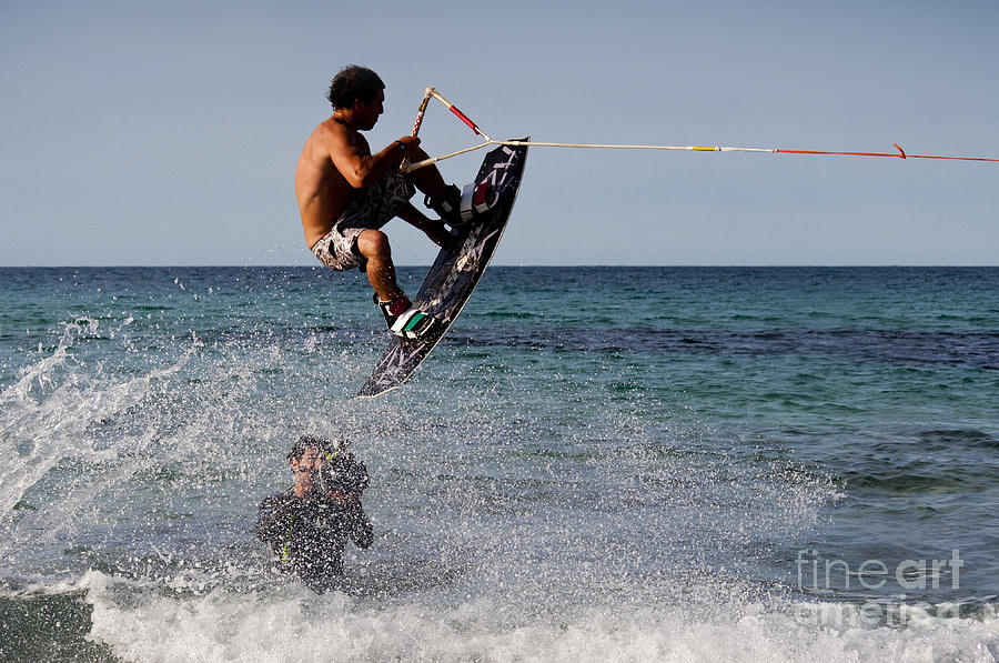Mondello Photograph - Jump by Francesco Zappala