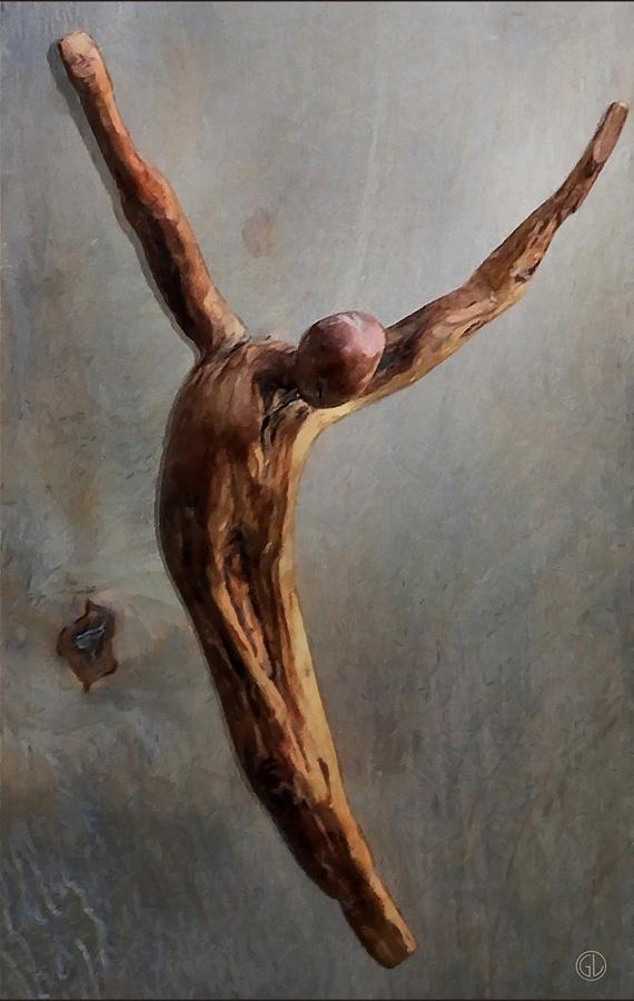 Man Sculpture - Jump by Gun Legler