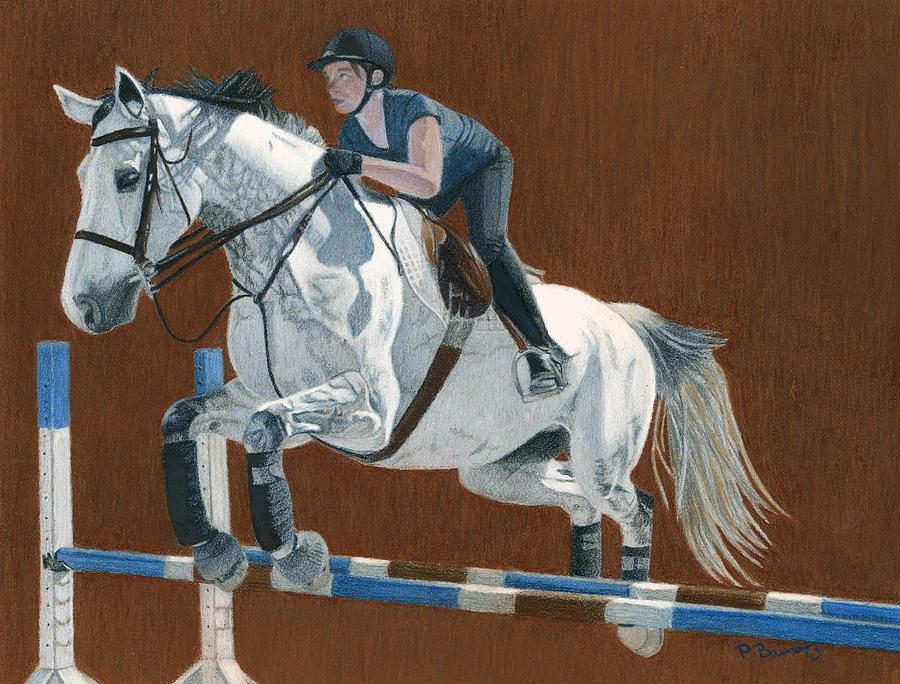 Hunter Jumper Painting - Jump by Patricia Barmatz