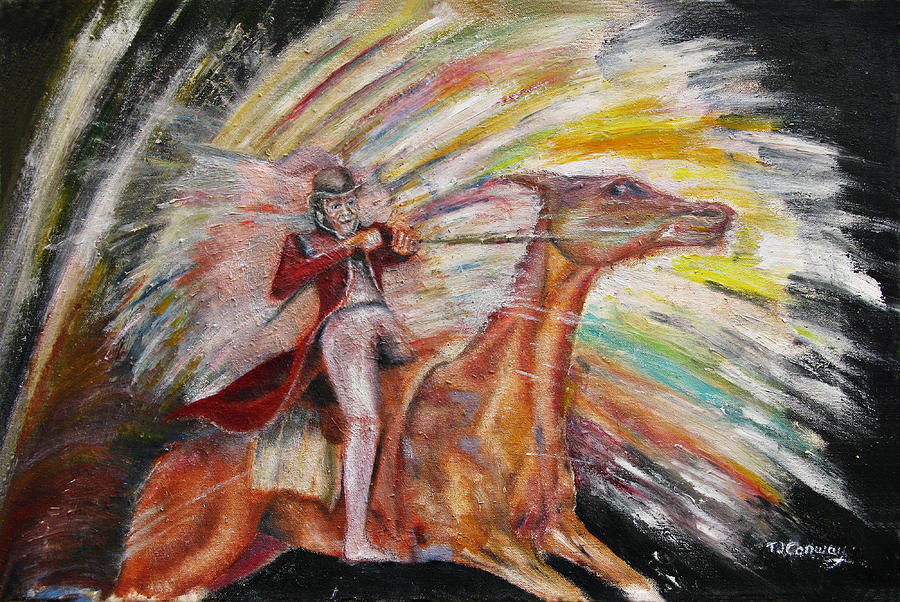 Horses Painting - Jump The Rainbow by Tom Conway