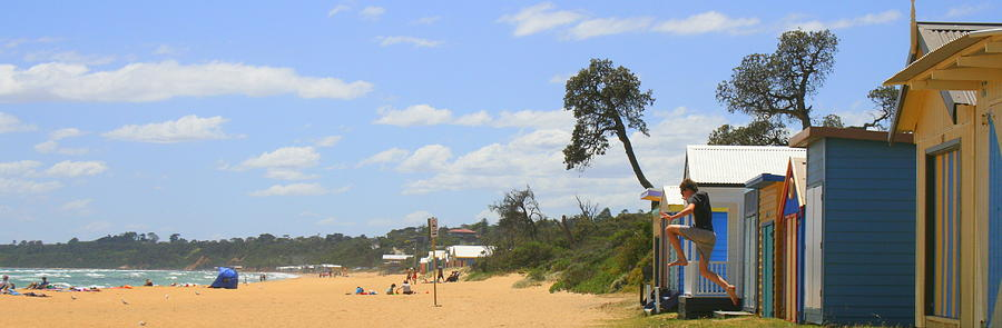 Beach Photograph - Jump To The Beach by Rachael Curry