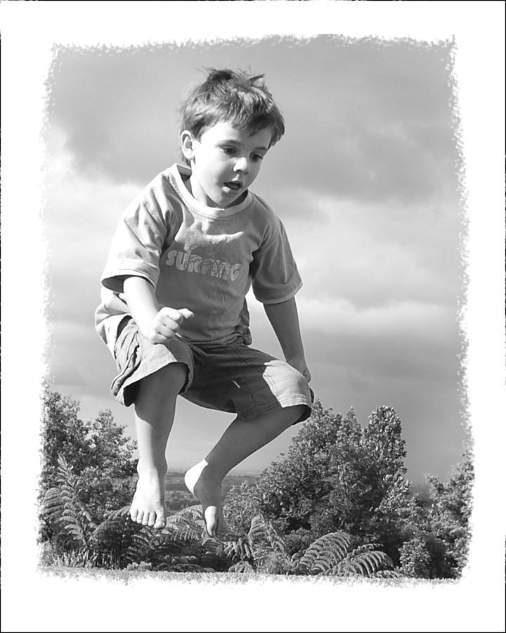 Boy Photograph - Jump by Wynn Davis-Shanks