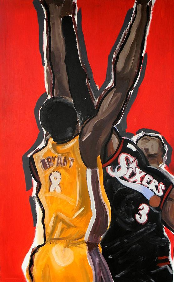 Basketball Painting - Jumpball by Patrick Ficklin