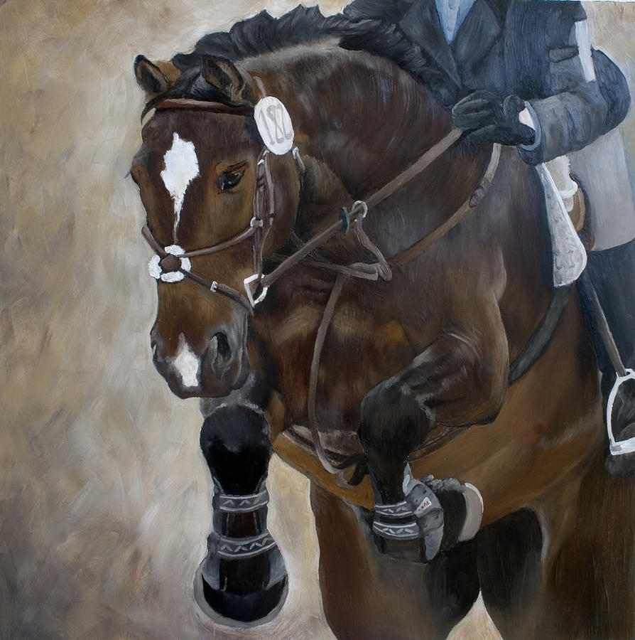 Horses Painting - Jumper 182 by Abra Johnson