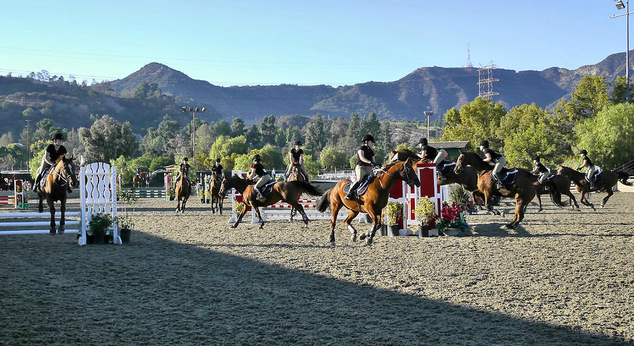 Los Angeles Equestrian Center Photograph - Jumper Competition Time Lapse by Kevin Garrett