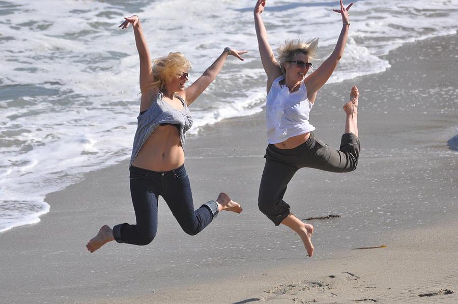 Jumper Photograph - Jumpers At La Jolla Cove by Pamela Schreckengost