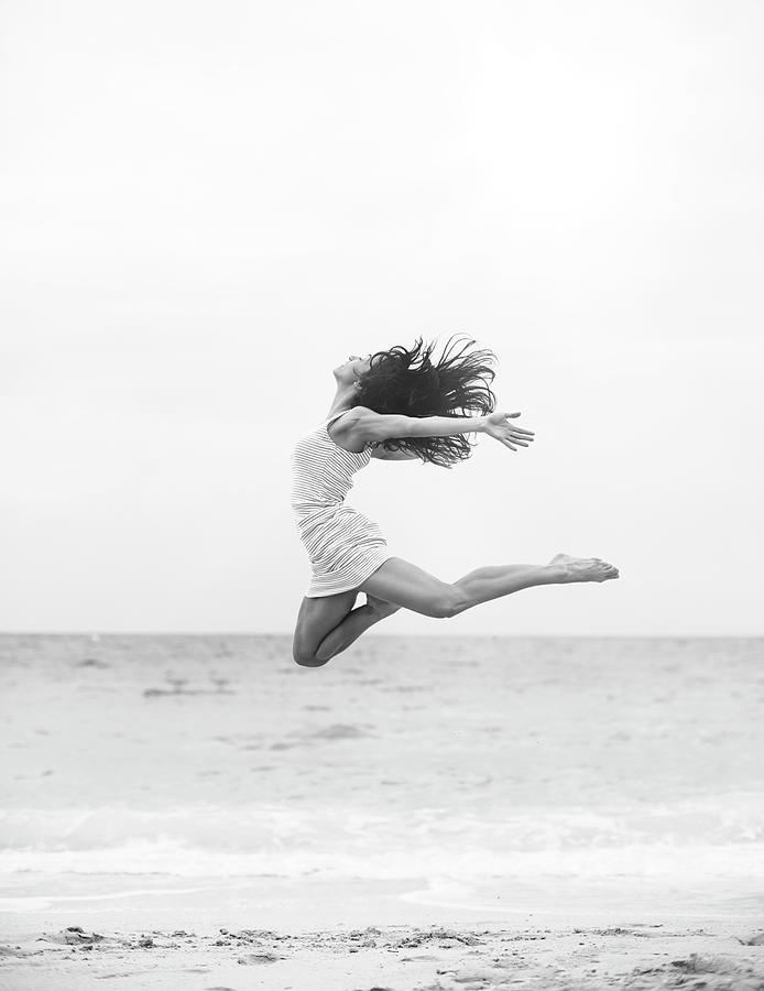 Jumping At The Beach Photograph by Srdjana1