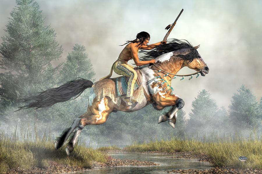 Jumping Horse Digital Art - Jumping Horse by Daniel Eskridge