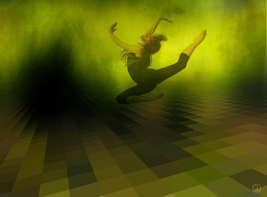 Woman Digital Art - Jumping In by Gun Legler